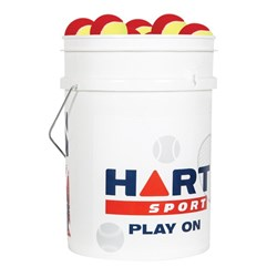 HART Bucket of Low Compression Tennis Balls - 75%
