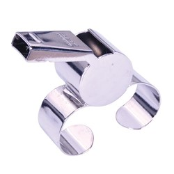 HART Nickel Plated Finger Grip Whistle