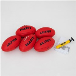 HART Ultra AFL Ball Pack Red - Size 4
