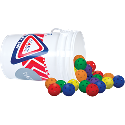 "HART Bucket of 9"" Rainbow Wiffle Balls"