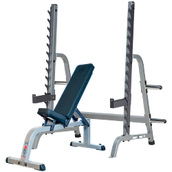 HART Multi-Press Rack Combo Flat/Incline Bench