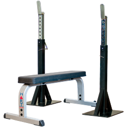 HART Pro Squat Stand Combo Flat Bench