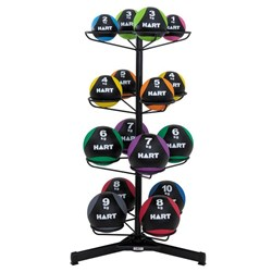 HART Rubber Med Ball Set with Rotating Rack