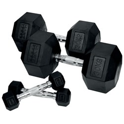 HART Rubber Hex Dumbbell Set - 1kg to 30kg