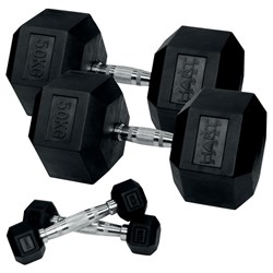 HART Rubber Hex Dumbbell Set - 1kg to 50kg
