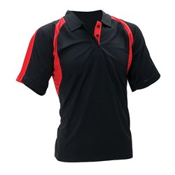 Aspire Polo Shirt Adult Black/Red SH Sml