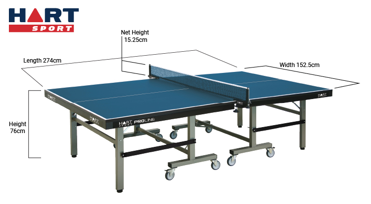 Table tennis tables which is right for you hart sport - Measurements of table tennis table ...