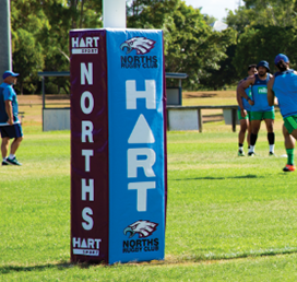 Custom Rugby Post Pads
