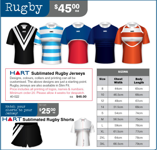 Sublimation Rugby