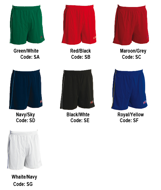 Sprint Shorts Colour Combinations