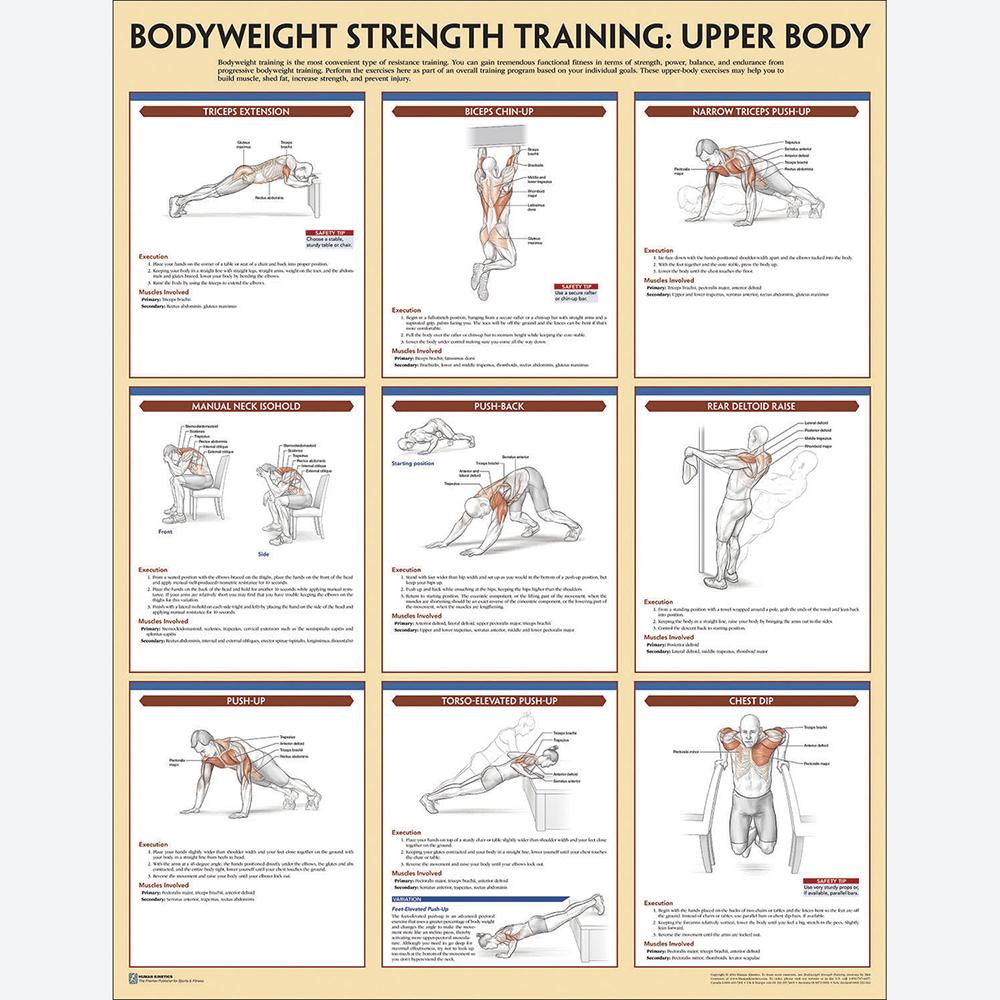 Bodyweight Strength Training Poster Set Hart Sport
