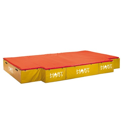 HART Cut Out High Jump Mat 600 Yellow/Red