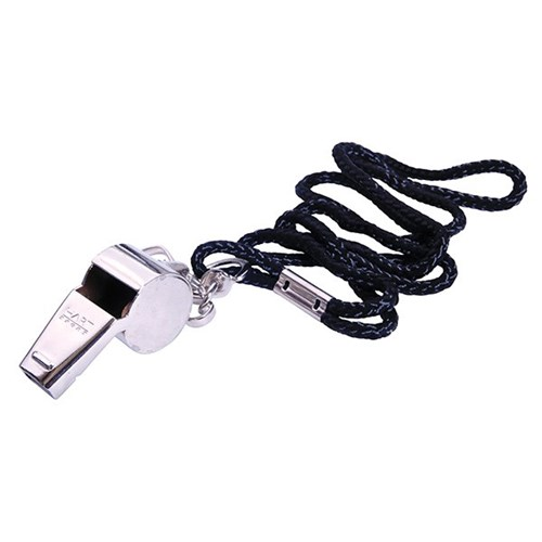 HART Nickel Plated Whistle with Lanyard