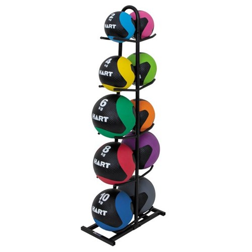 HART Rubber Medicine Ball Kit Complete Set with Rack